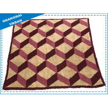 Single Geometry Fleece Wool Blanket